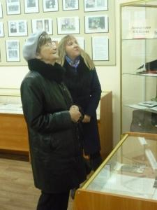 Ольга Сергеевна Белова - вдова В. И. Белова, Анна Васильевна Белова - дочь писателя. 21 октября 2015 г.