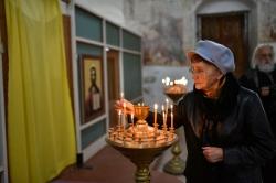 Сохотская Николаевская церковь. Ольга Сергеевна Белова, вдова писателя